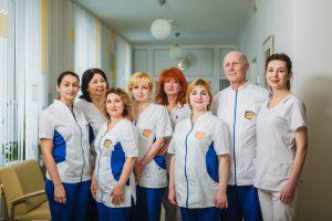 Персонал отделения хирургии клиники Ирей